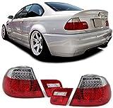 Carparts-Online GmbH 11753 LED R�CKLEUCHTEN ROT KLAR M3 LOOK