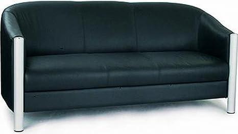 Italian Leather 3 Seater Tub Sofa