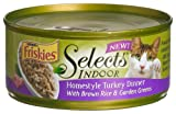Friskies Selects Indoor Cat Food, Homestyle Turkey Dinner with Brown Rice & Garden Greens, 5.5-Ounce Cans (Pack of 24)