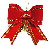PETMALL Plastic Bells Bowknot Pendent Bell Bowknot Christmas Tree Decoration Ornaments 12cm*15cm JR-003