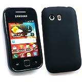 Kit Me Out FR Coque en gel TPU pour Samsung Galaxy Y S5360 - noir impression givre