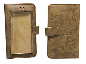Jo Jo A11 Omni Leather Carry Case Pouch Wallet S View For Samsung Galaxy A3 Duos Light Brown