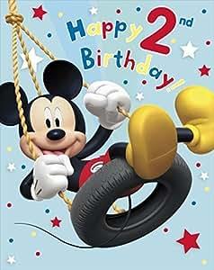 Amazon.com : Mickey Mouse Happy 2Nd Birthday ! Large