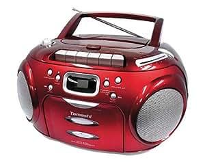 Tamashi DX B18R CD-/MP3-Radiorekorder (Kassettendeck ,USB 2.0) rot