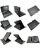 Coodio® Smart Asus Transformer Book T100TA 360 étui en cuir avec support prise manuelle intégré (support clavier) - Noir