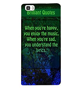 Fuson 3D Printed Quotes Designer back case cover for Huawei P8 - D4534