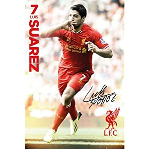 Liverpool F.C. Poster Suarez 45 from LIVERPOOL F.C.