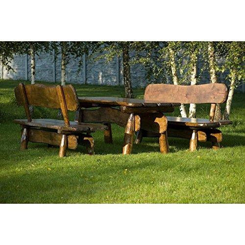 Sitzgruppe-Rustikal-200-cm-Massivholzmbel-Gartenmbel-Sitzgarnitur-5cm-Holzstrke