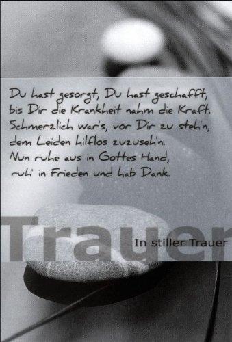 Schön Trauersprüche Für Karten Kurz Karte Trauer Spruch Himmel Bewölkt  Liefermenge 5 De