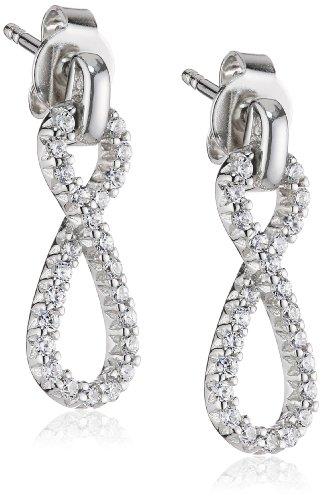 Esprit Damen-Ohrstecker 925 Sterling Silber rhodiniert Zirkonia ESER92497A000