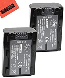 Pack Of 2 NP-FH50 Batteries For Sony Cyber-shot Digital Camera Battery+ LCD Screen Protectors + MicroFiber Cleaning Cloth