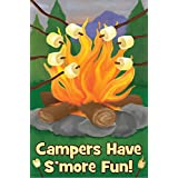 S'more Fun Summer Garden Flag Camping Enjoy Mini Banner 12