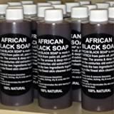100% Pure Authentic Liquid African Black Soap From Ghana 8oz.