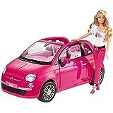 Barbie - Y6857 - Accessoire Poupée - Voiture Fiat 500 - Rose