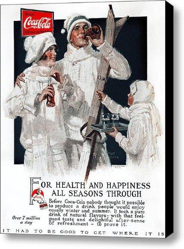 Coca-Cola Ad, 1927 Canvas Print / Canvas Art - Artist Granger