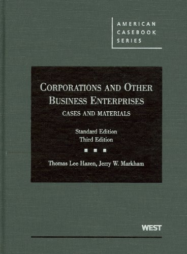 Hazen and Markham's Corporations and Other Business...