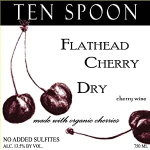 NV Ten Spoon Flathead Cherry Wine Dry 750 ml - Certified Organic - No Added Sulfites