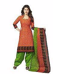 Samskruti Unstiched Cotton Printed Dress Material - B00PQXRML6