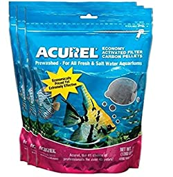 Acurel LLC Economy Activated Filter Carbon Pellets, 3-Pound - 3 pack