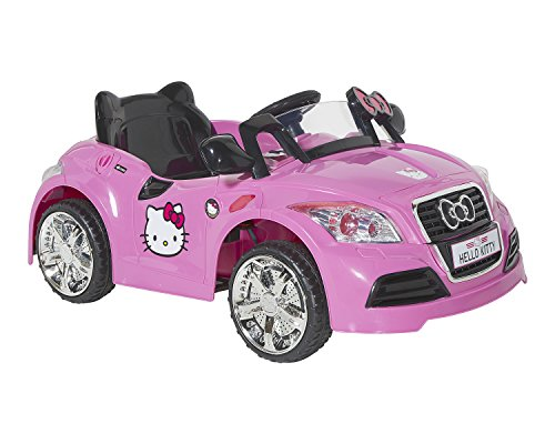 Hello Kitty 8802-73 6V Sports Car Ride-On, Pink/Black