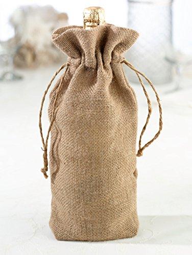 Lillian Rose Blank Burlap Wine Bag (Easily Personalized)