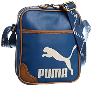 PUMA Umhängetasche Originals Portable PU, vallarta blue-toasted coconut, 17 x 20 x 6 cm, 2 liters, 071061 03