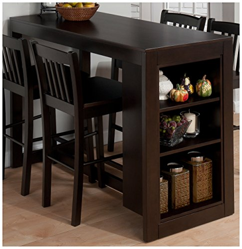Jofran 810-48 Maryland Merlot Counter Height Table with 3 Shelves for Storage (Kitchen Table And Chairs For 4 compare prices)
