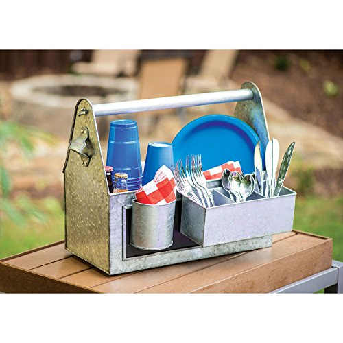 Review Galvanized Picnic Caddy