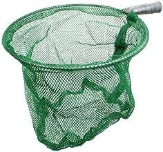 Metal Round Frame Folded Fishing Dip Landing Net Green