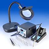 """""""X-TRONIC"""" MODEL #4010-XTS - 4000 SERIES - SMD - ESD SAFE - NEW Centigrade/Fahrenheit Switch - Digital Soldering Iron Station - 10 SOLDERING TIPS - 1 EXTRA HEATING ELEMENT - 1 ANTI-MAGNETIC TWEEZERS - 1 5X MAGNIFYING LAMP!!!"""