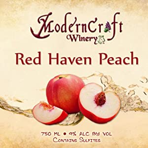 NV Modern Craft Winery Red Haven Peach Fruit Wine 750 mL