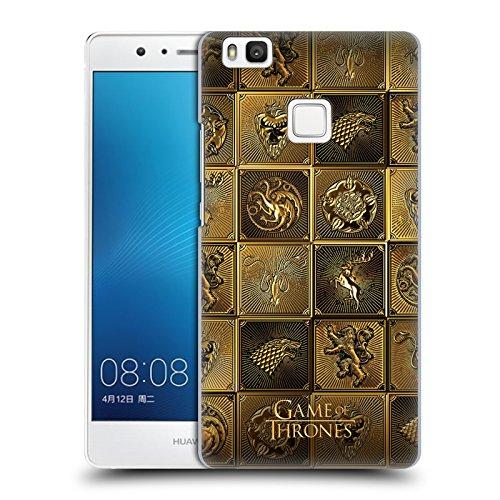 Ufficiale HBO Game Of Thrones All Houses Sigilli Dorati Cover Retro Rigida per Huawei P9 lite / G9 Lite