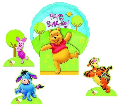 Amscan Pooh Happy Birthday Balloon Centerpiece
