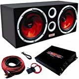 XXX Car Audio Pair 12″ Subs/Car Amp Kit/Sub Box for $175.99 + Shipping