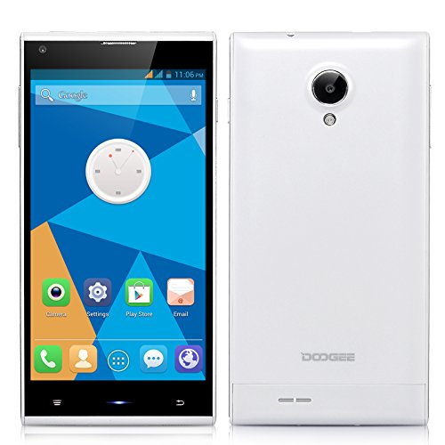 DOOGEE DAGGER DG550 MTK6592 Octa Core 1.7GHz Andriod 4.2.9 Phone 5.5 inch IPS OGS 1280*720 1GB RAM 16GB ROM 13.0MP GPS Smart Phone (White)