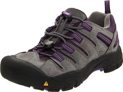 KEEN Gypsum Hiking Shoe (Toddler/Little Kid/Big Kid),Gargoyle/Purple Heart,8 M US Toddler