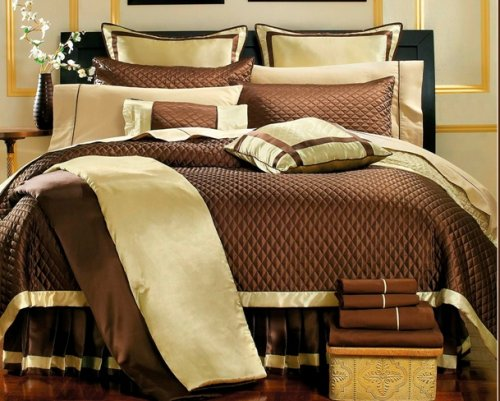 Park Avenue Chocolate Brown 8 Piece Super Bed In a Bag Comforter Set
