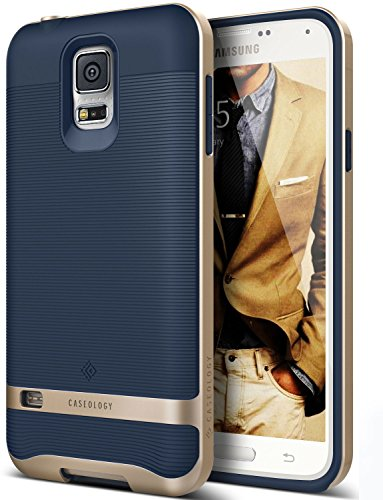 Galaxy S5 Case, Caseology [Wavelength Series] Textured Pattern Grip Cover [Navy Blue] [Shock Proof] for Samsung Galaxy S5 - Navy Blue (Nv Phone Case compare prices)