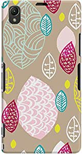 xperia z1 back case cover ,Raw Garden Designer xperia z1 hard back case cover. Slim light weight polycarbonate case with [ 3 Years WARRANTY ] Protects from scratch and Bumps & Drops.