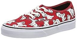Vans Authentic Shoes (Disney) Dalmatians Unisex Red Sneakers (7.5 Men)