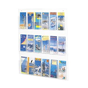 Safco Products Clear2c 18-Pamphlet Display (5672CL)