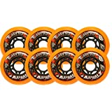 8 Labeda Gripper Asphalt Outdoor Roller Hockey Wheels - Orange 80mm by Labeda
