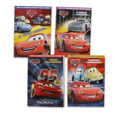 1pc Assorted Disney Cars Coloring Book in Spanish 96 Page Each - 1