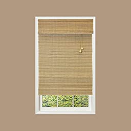 Natural Multi Weave Roman Shade, 72 in. Length (Price Varies by Size)