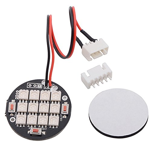 Andoer 12 LED Night Light Changing Multicolor for DJI Phantom F450 F550 w/ Mucilage Glue and Connecting