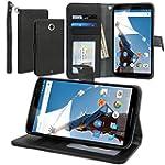Evecase Nexus 6 Case, Leather Wallet...