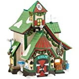 Department 56 North Pole Series Village The Reindeer Stables, Rudolph Lit House, 6.61-Inch