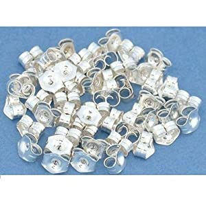 Sterling Silver Earring Backs (Earnuts) Butterfly Clutches (20)