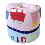 Childrens Filled Bean Bag Trains Design. *Matching Bedding & Curtains Also Available*