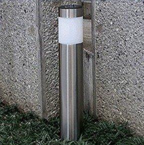 【 電気代 0円 】 白色 ソーラー LED ガーデン ライト 夜間 自動点灯 配線 不要 ステンレス 製 埋め込み エコ 省エネ MA-I-SRGARDEN